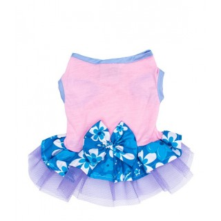 Pawsh Couture Tri Layer Tropics Blue Pet Dress