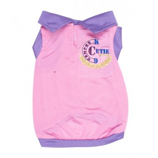 Pawsh Couture Campus Cutie Pink Pet Tee