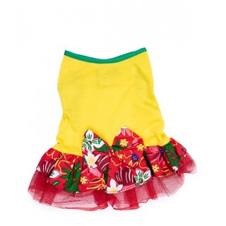 Pawsh Couture Tri Layer Tropics Red Pet Dress