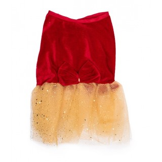 Pawsh Couture Red & Gold Pet Tutu Dress