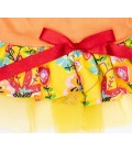 Pawsh Couture Tri Layer Happy Leaves Yellow Pet Dress