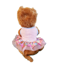 Pawsh Couture Tri Layer Happy Leaves Pink Pet Dress