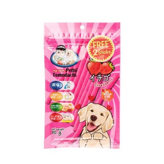 Petto Tomodachi Dog Sticks STRAWBERRY 80g Dog Treats