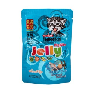 Petto Tomodachi Jelly Big Bite GOURMET SEAFOOD 80g Cat Wet Food