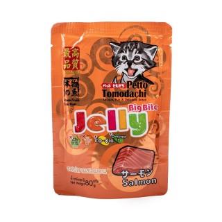 Petto Tomodachi Jelly Big Bite SALMON 80g Cat Wet Food