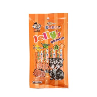 Petto Tomodachi Jelly Queese SALMON & SHRIMP 15g x 4 Cat Food Toppers/Treats