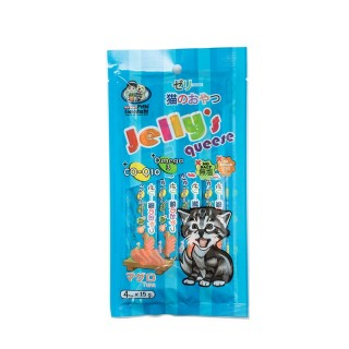 Petto Tomodachi Jelly Queese TUNA 15g x 4 Cat Food Toppers/Treats