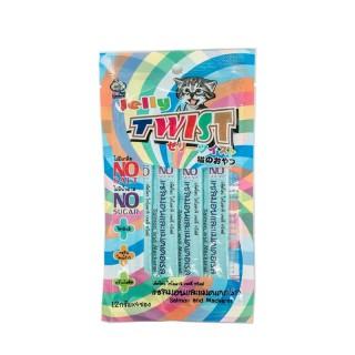 Petto Tomodachi Jelly Twist SALMON & MACKEREL 12g x 4 Cat Food Toppers/Treats