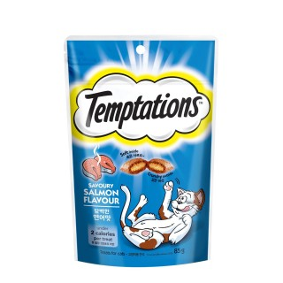 Temptations Savoury Salmon Flavour 85g Cat Treats