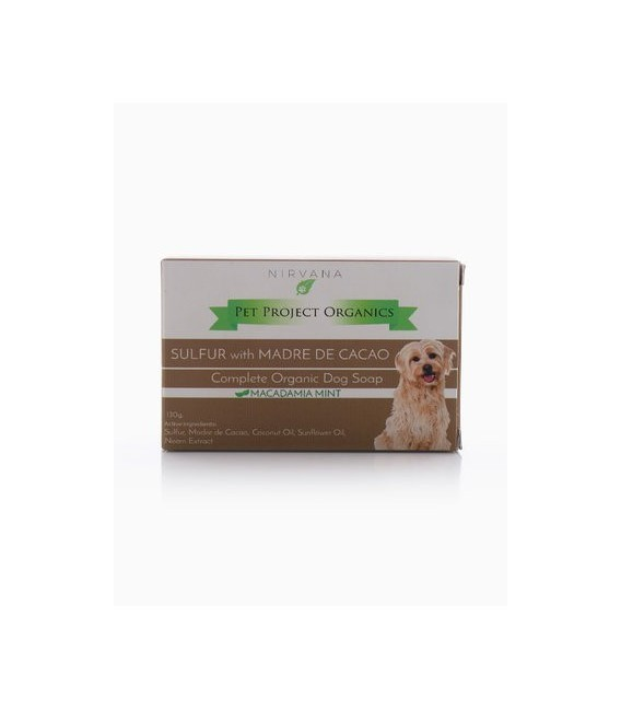 Nirvana Pet Project Organics SULFUR with MADRE DE CACAO 130g Organic Dog Soap