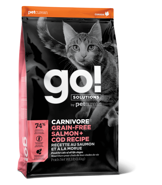 Go! Solutions Carnivore Salmon + Cod Grain-Free Dry Cat Food