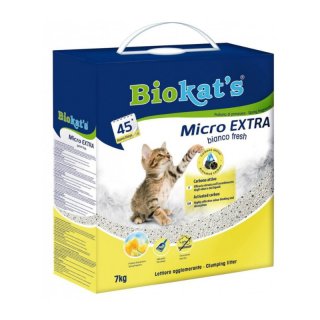 Biokats Micro Extra Bianco Fresh 7kg Cat Litter