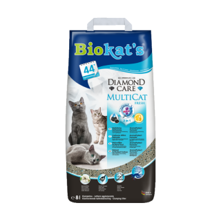 Biokats Diamond Care Multicat Fresh 8L Cat Litter