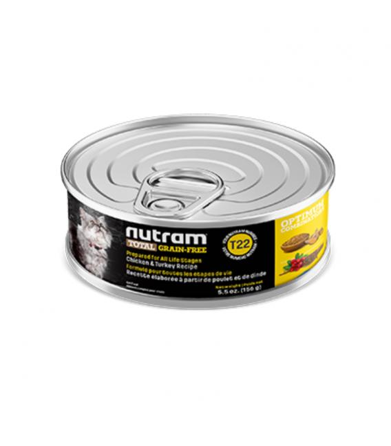 Nutram T22 Total Grain Free Chicken and Turkey 156g Cat Wet Food