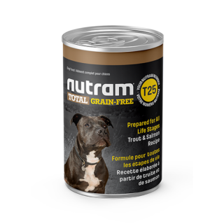 Nutram T25 Total Grain Free Trout and Salmon 369g Dog Wet Food