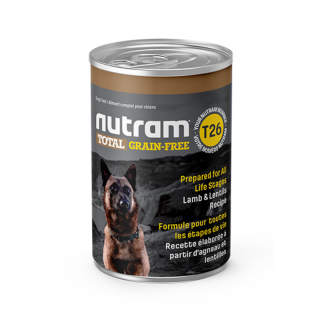 Nutram T26 Total Grain Free Lamb and Lentils Recipe 369g Dog Wet Food