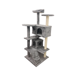 Simple Gray Multicat 4ft Cat Tree