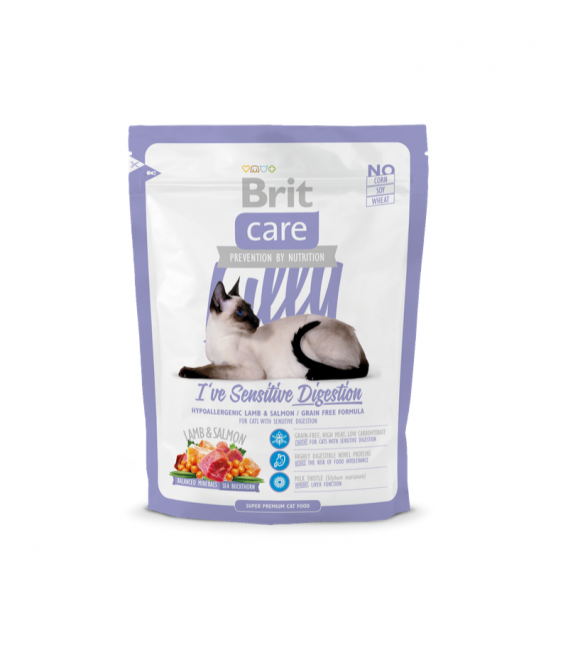 Brit Care Lilly I've Sensitive Digestion Hypoallergenic Lamb and Rice Cat Dry Food