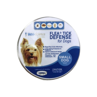 Vetri Science Laboratories Flea + Tick Defense Collar for Small Breed Dogs