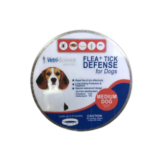 Vetri Science Laboratories Flea + Tick Defense Collar for Medium Breed Dogs