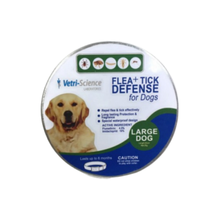 Vetri Science Laboratories Flea + Tick Defense Collar for Large Breed Dogs
