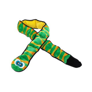 Outward Hound Invincibles Snakes Green Dog Squeak Toy