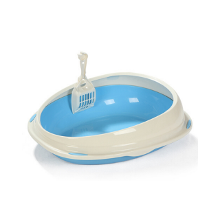 Timeless Round Blue Large Litter Pan and Scoop