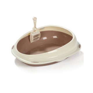 Timeless Series Round Brown Litter Pan and Scoop