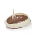 Timeless Series Round Brown 1kg Cat Litter Pan and Scoop