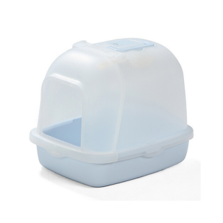 Crystal Series Covered Light Blue Litter Pan and Scoop