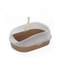 Crystal Series High Back Brown 1.5kg Cat Litter Pan and Scoop