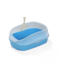 Crystal Series High Back Blue Cat Litter Pan and Scoop