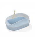 Crystal Series High Back Light Blue Cat Litter Pan and Scoop
