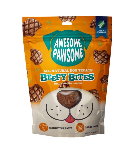 Awesome Pawsome Beefy Bites Grain Free 85g Dog Treats