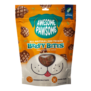 Awesome Pawsome Beefy Bites Grain-Free 85g Dog Treats
