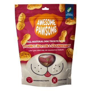 Awesome Pawsome Peanut Butter and Cranberry Grain-Free 85g Dog Treats