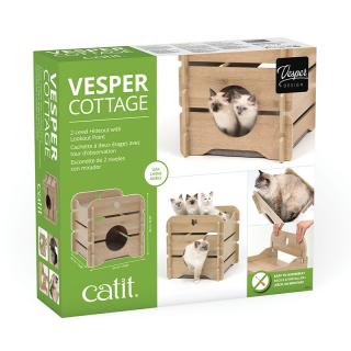 Catit Vesper Oak Cottage Cat Hideout