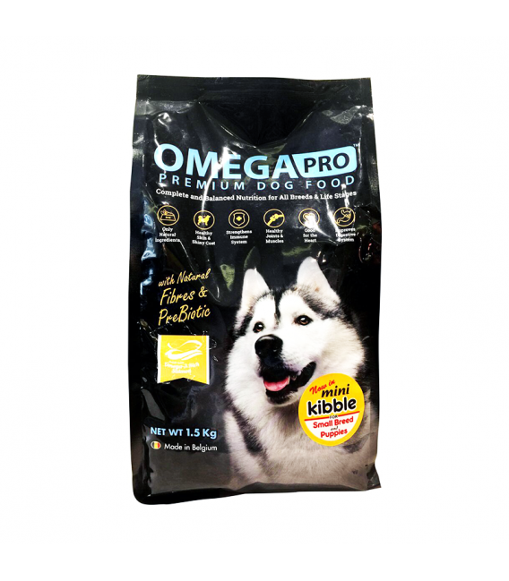 Omega Pro Salmon Mini Kibble for Small Breed Puppy Dry Food