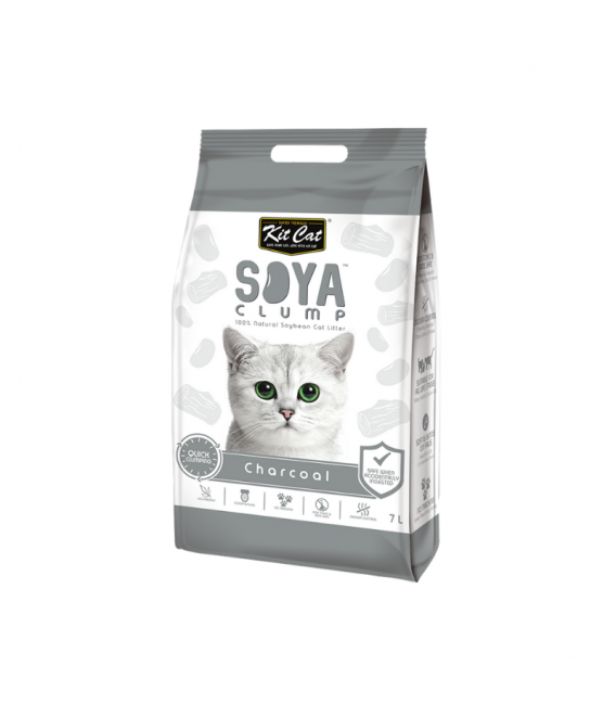 Kit Cat Soya Clump Charcoal 7l Cat Litter Pet Warehouse
