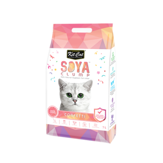 Kit Cat Soya Clump Confetti 7L Cat Litter