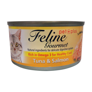 Feline Gourmet Tuna and Salmon 80g Cat Wet Food
