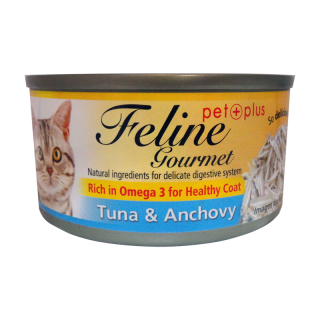 Feline Gourmet Tuna and Anchovy 80g Cat Wet Food