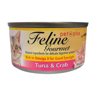 Feline Gourmet Tuna and Crab 80g Cat Wet Food