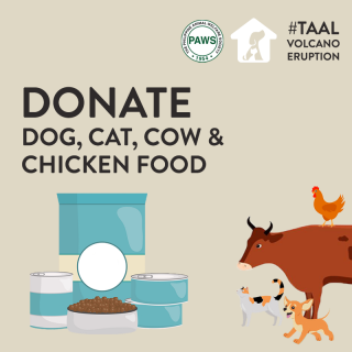 DONATE TO PAWS - FOOD FOR TAAL RESCUE EFFORT