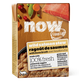 DISCOUNTED Now Fresh Grain Free Wild Salmon Stew with Bone Broth 182g Cat Wet Food/Toppers