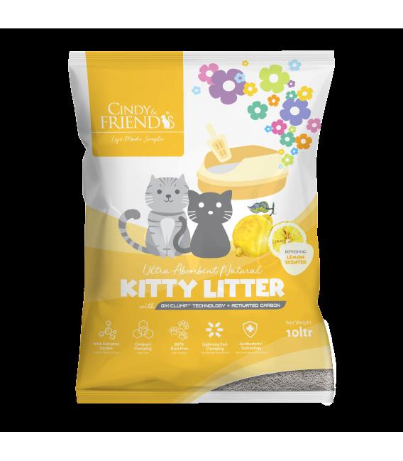 Cindy & Friends Ultra Absorbent Natural Lemon 10L Cat Litter