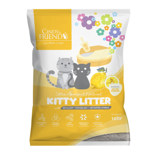 Cindy & Friends Ultra Absorbent Natural Lemon 10L Cat Litter