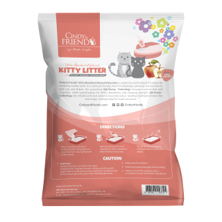 Cindy & Friends Ultra Absorbent Natural Apple 10L Cat Litter