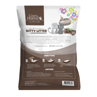 Cindy & Friends Ultra Absorbent Natural Coffee 10L Cat Litter