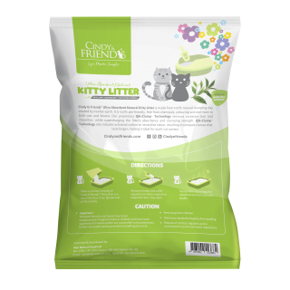 Cindy & Friends Ultra Absorbent Natural Green Tea 10L Cat Litter